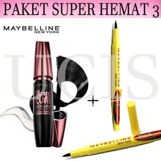 UCIS- ( COD ) Paket Maskara Maybelline Paket Make Up Mascara Maybelline + Eyeliner Maybelline Waterproof thumbnail