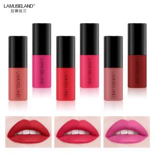 Lipstik LAMUSELAND Lipstick Cair Mini Warna Matte Anti Air Tahan Lama Mudah Dibawa thumbnail