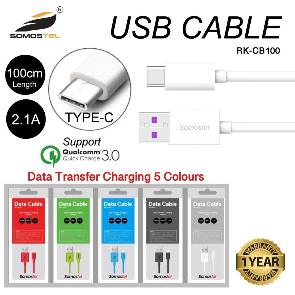 somostel usb kabel tyoe c fast charging, sms-cb100c , garansi resmi 1 tahun , rusak ganti baru