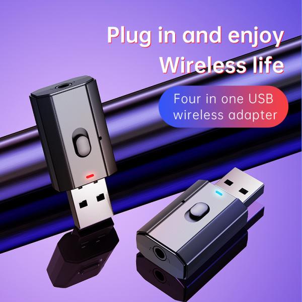 Bảng giá Bộ Chuyển Đổi Bluetooth Highmax 4 In1Bluetooth 5.0, Bộ Thu Phát Bluetooth Không Dây USB Âm Thanh Nhạc Bộ Chuyển Đổi AUX 3.5Mm Rảnh Tay Cho Xe Hơi TV PC Không Dây Bộ Chuyển Đổi Phong Vũ