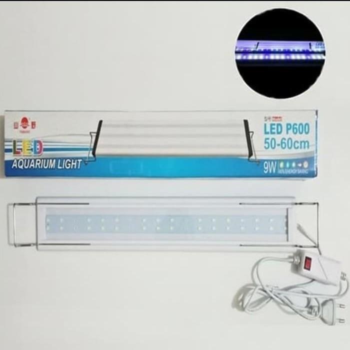 Lampu Led Aquarium aquascape Yamano P600 9watt panjang 50-60cm