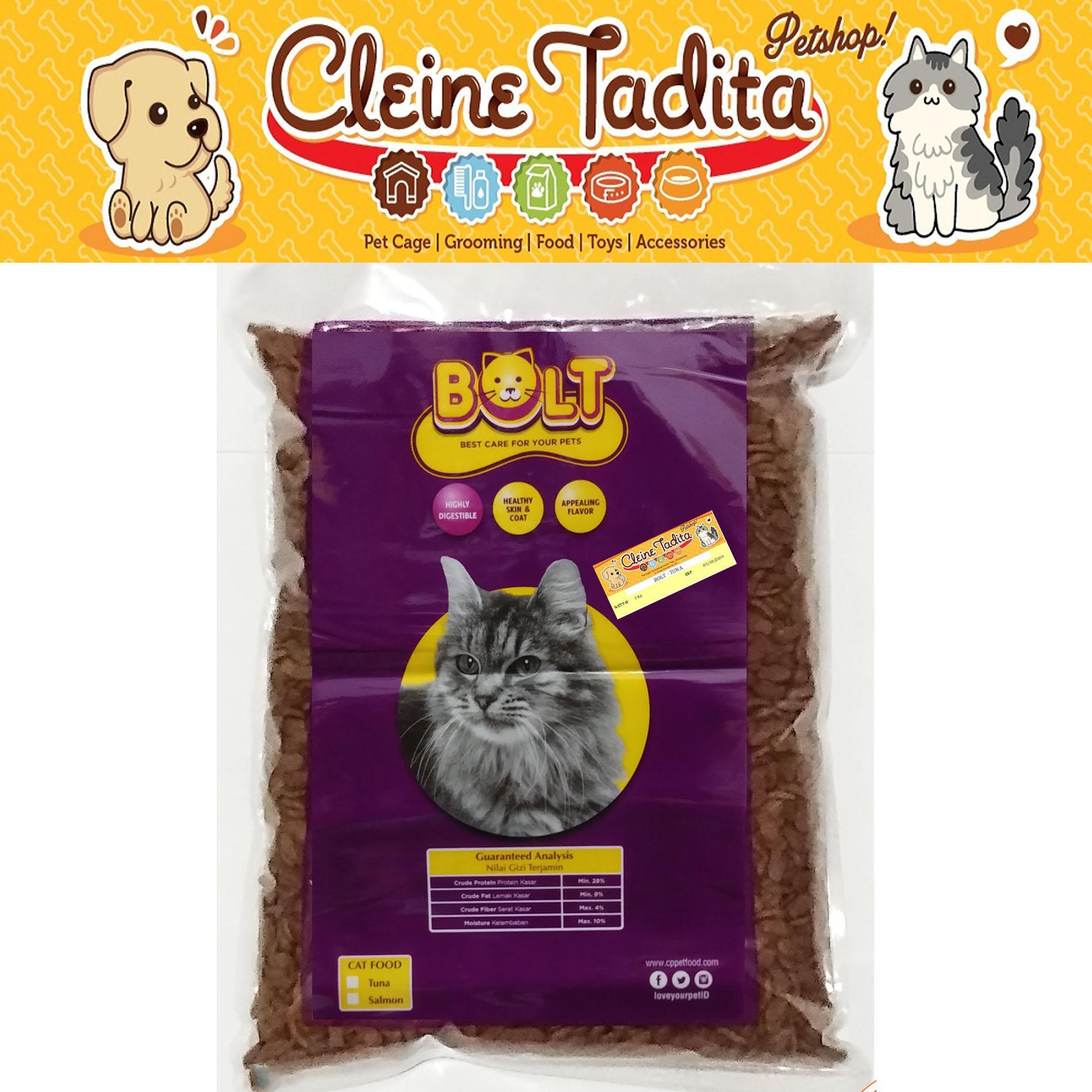 Cleine Tadita Petshop - Makanan Kucing Bolt Tuna 1kg Repack (donat) By Cleine Tadita Petshop.