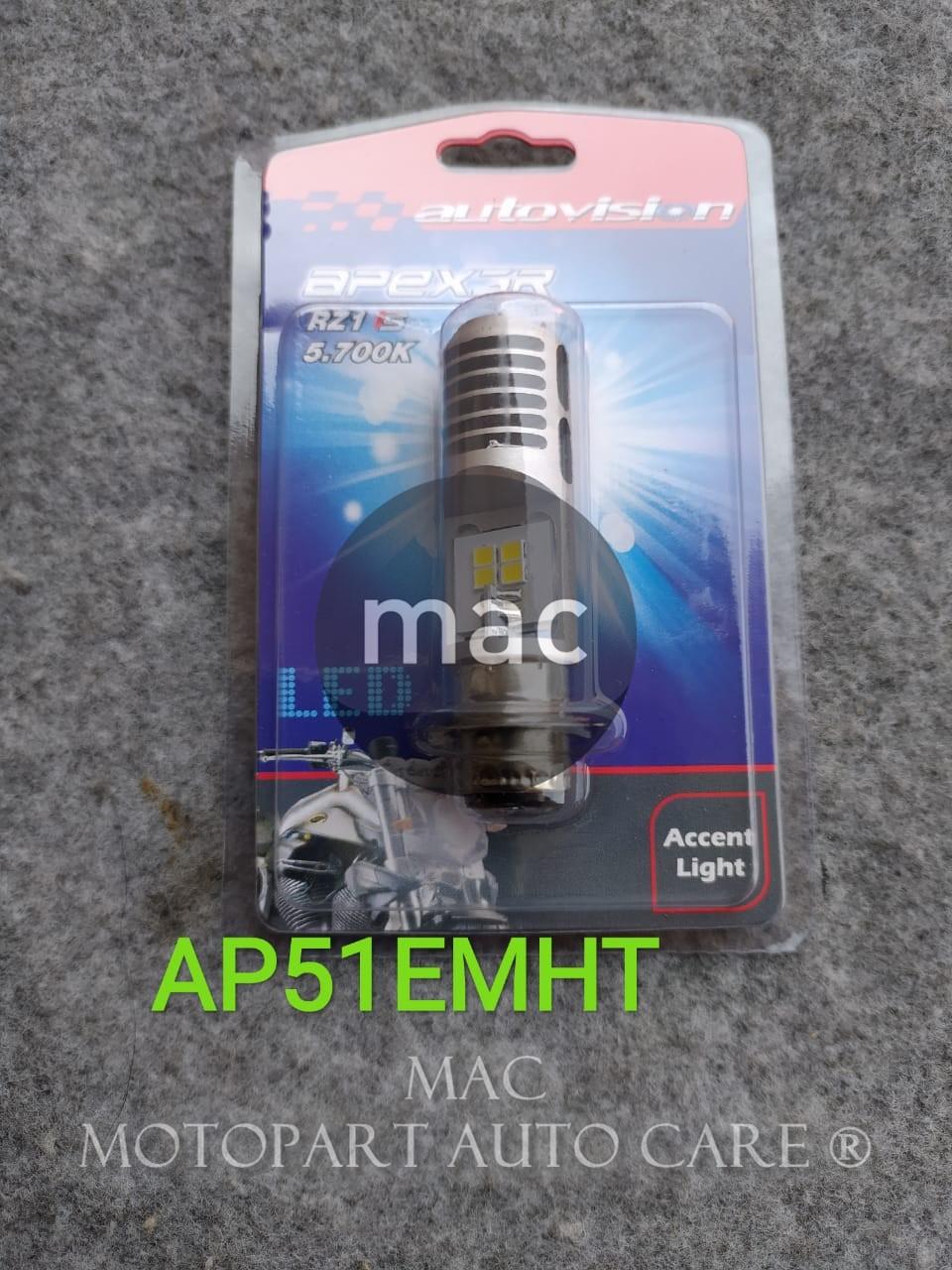 DOP LAMPU DEPAN LED BEBEK RZ1 5700K ACCENT LIGHT AUTOVISION