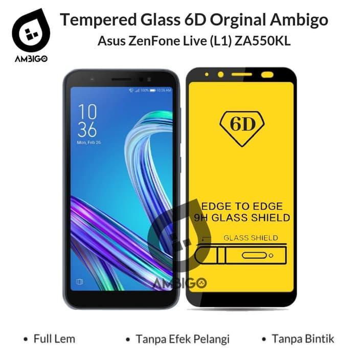 Asus Zenfone Live L1 ZA550KL Tempered Glass 6D Full Cover Ambigo