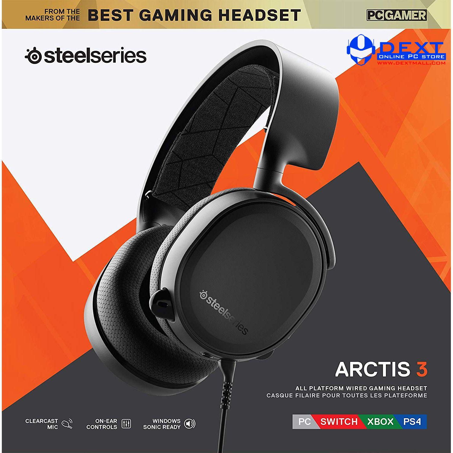 e836c5ccc3f SteelSeries Arctis 3 (2019 Edition) With 7.1 DTS Headphone:X Black