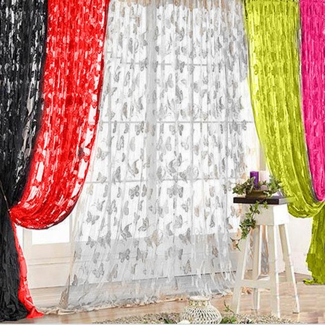 GadoGado FYgalery - Tirai Benang Motif Kupu-Kupu Tirai Jendela Tirai Pintu Tirai Batam Tirai Murah Batam TIrai Benang Cantik