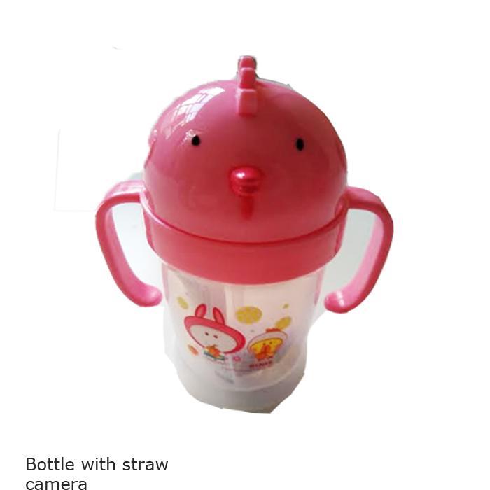 Camera Children Cup/Gelas Sedotan Bayi Anti Tumpah 200ml/Botol Penguin