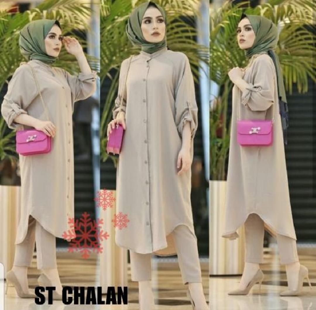 Nebula Setelan Muslim St Chalan Setelan Muslim Baju Muslim Setelan Lengan Panjang Pakaian Wanita Setelan Bawahan Rok Lazada Indonesia