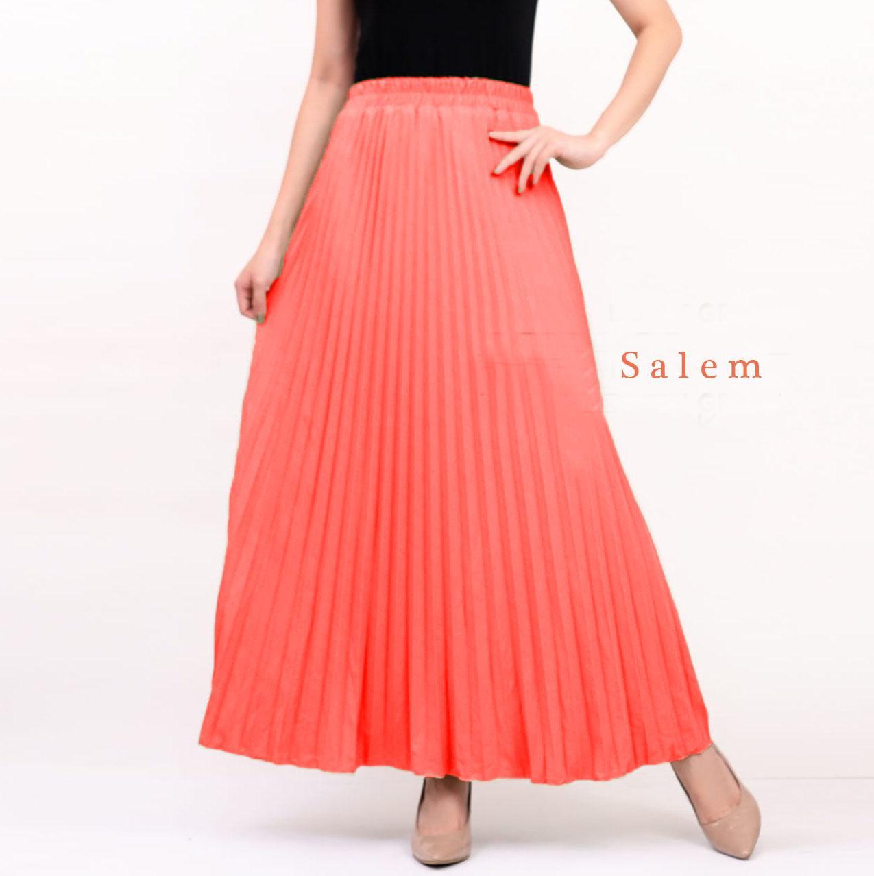 ebe0e28fd20aba Ciara Fashion Rok Payung Plisket   Maxi skirt   Bahan Import   Bawahan   Rok  maxi