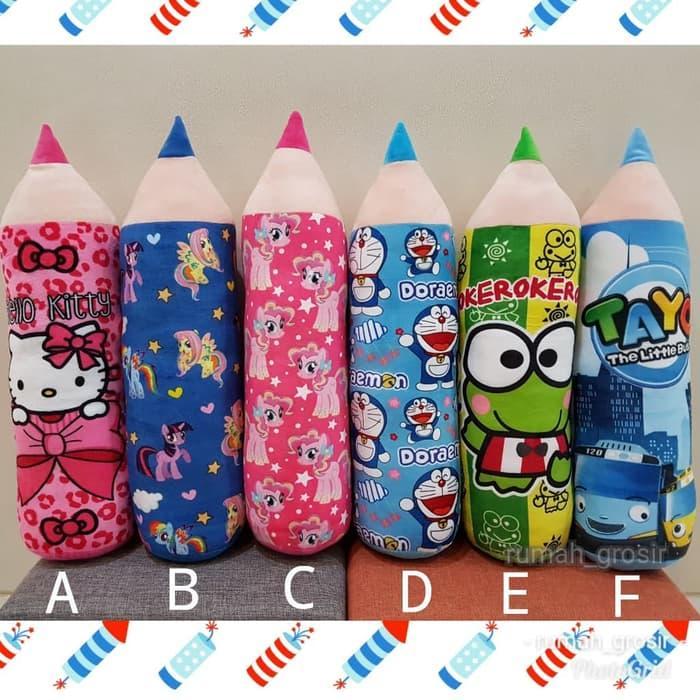Guling Pensil Hello Kitty Pony Doraemon Keroppi Tayo (Boneka SY 3590)