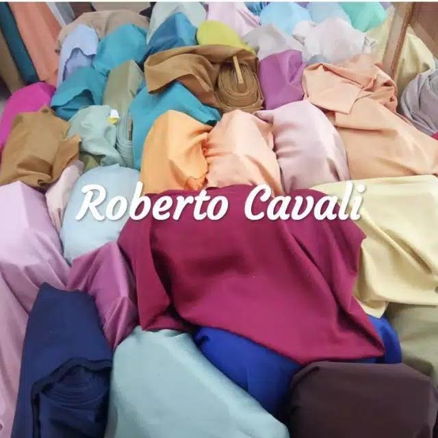 Kain Satin Roberto Cavali [HARGA 0.5 METER] Original Import Lebar 1.5 Meter