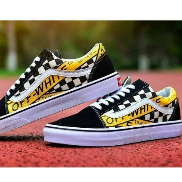 Promo Sepatu Vans_Sneakers Pria Off The White X Vans_ OldSkool Willy mario