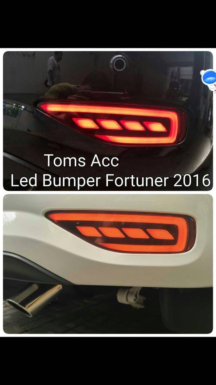 Bumper Led Fortuner Vrz 2016 Toyota Lampu Mata Kucing Nyala Reflektor