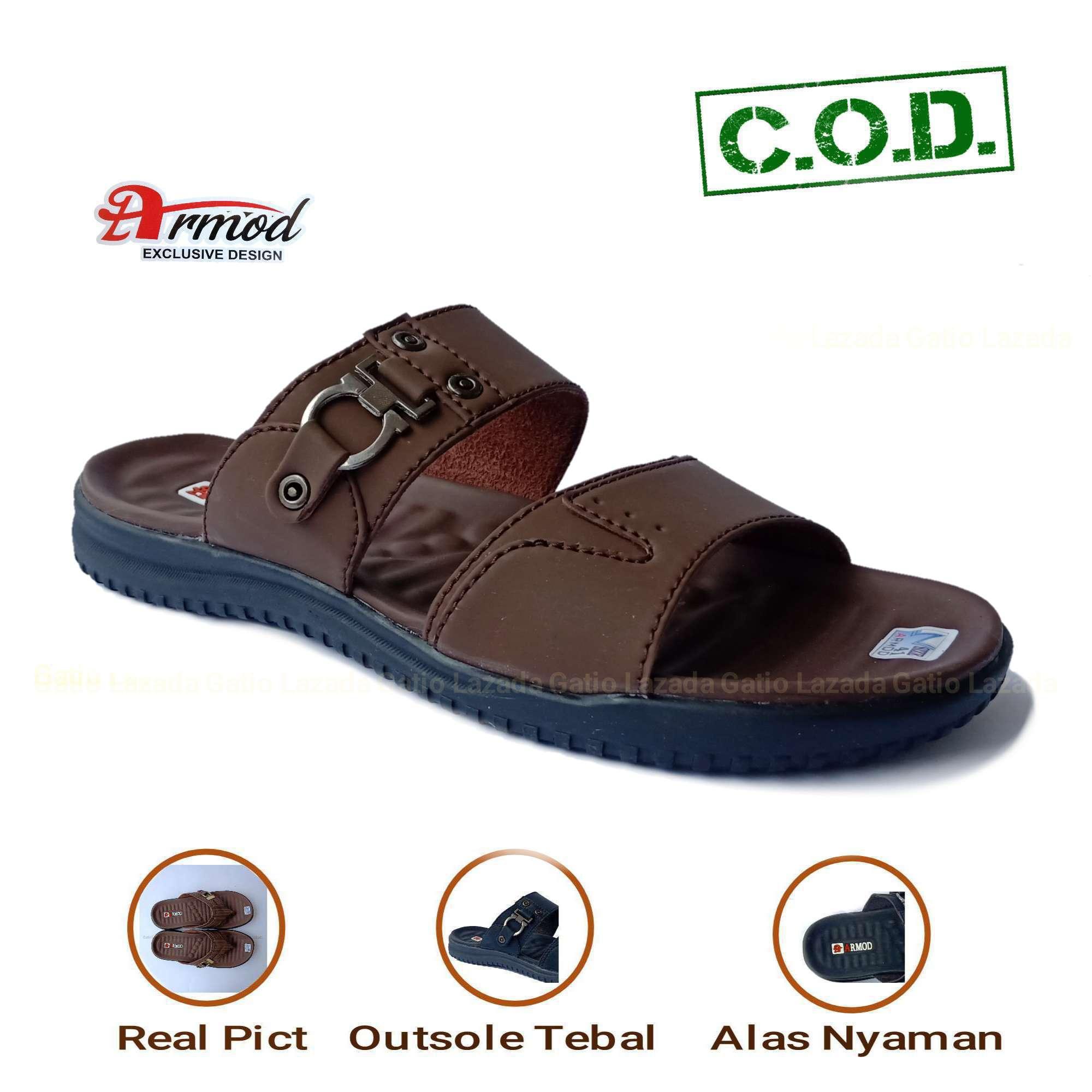 Sandal Kulit   Sandal Pria   Sandal Pria Kulit Casual Sandal Kulit Pria   Sandal  Pria cc079b5e93