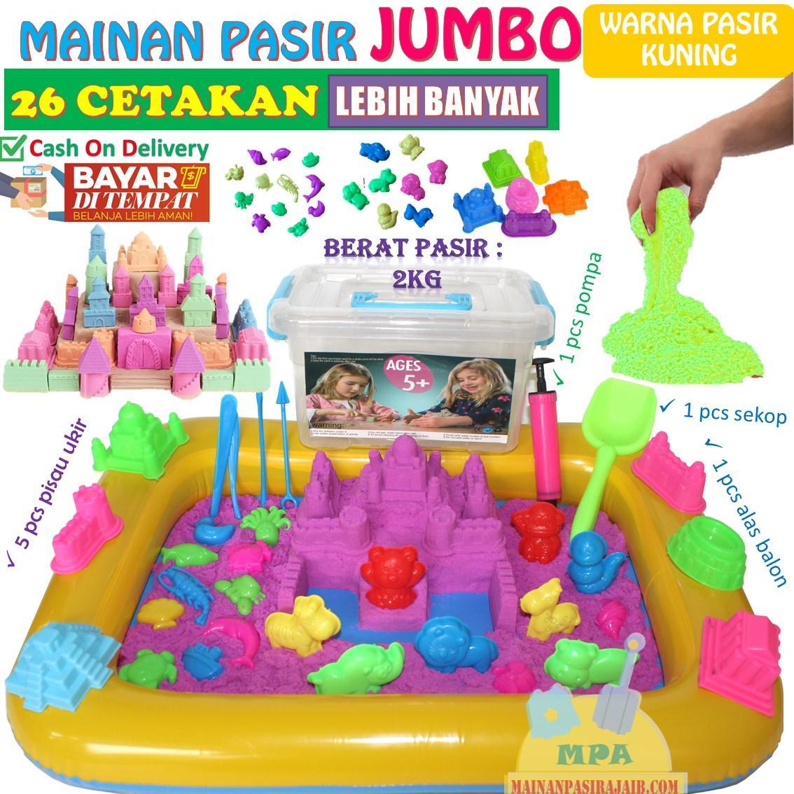 Mainan Pasir Ajaib Magic Sand Paket Lengkap 2Kg JUMBO c6c140fc95