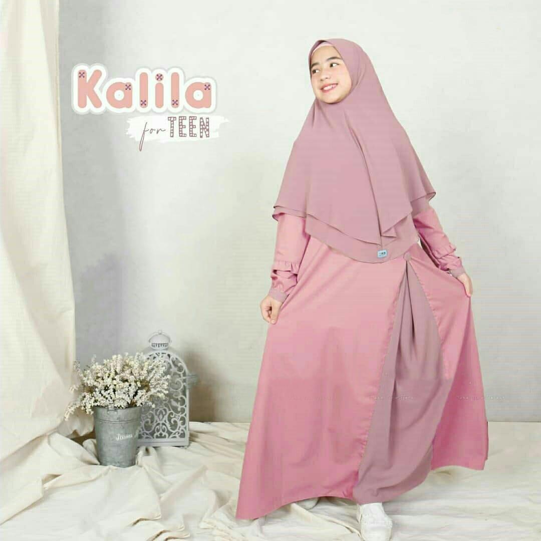 Kalila Kids Syari (+Khimar) / Baju Syari Anak Perempuan Terbaru 12 / Baju  Gamis Syari Anak Usia 12-12 Tahun / Baju Gamis Anak Wanita / Gamis Anak