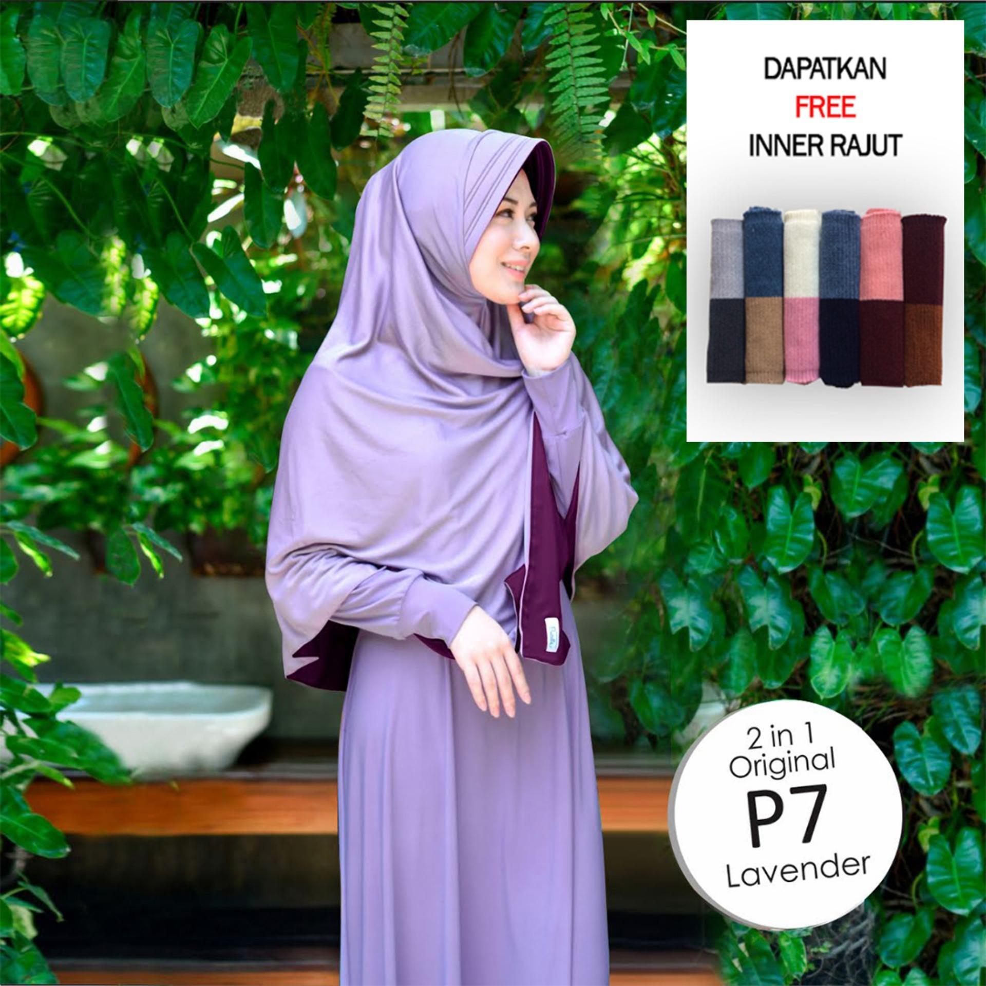 Jilbab 2 Warna / Hijab Instan / Kerudung Langusng Pakai Model Baru / Hijab Bolak Balik Dua Warna / 2 in 1 Original Grade A / Fashion Muslim Wanita Remaja Modern