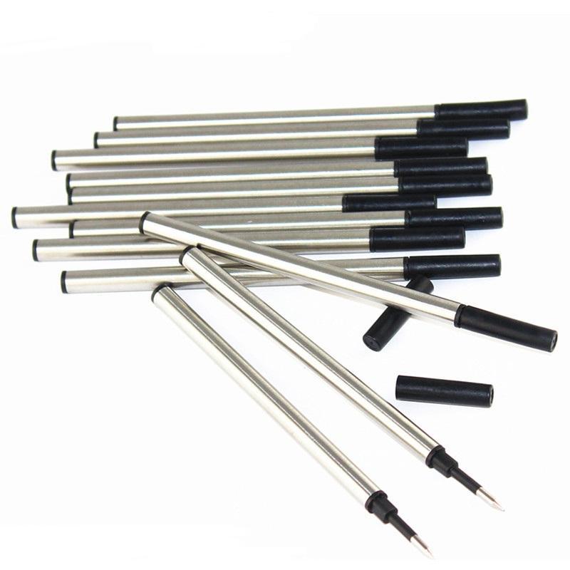 12 Pcs Refill Ballpoint Pen Roller Sign Pen medium Tinta Kering 0.5mm Hitam