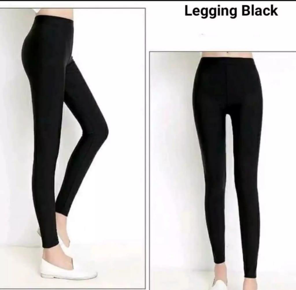 Legging Wanita Standar Celana Leging Panjang Bahan Spandek Jersey Size L Into Xxl Warna Hitam Lazada Indonesia