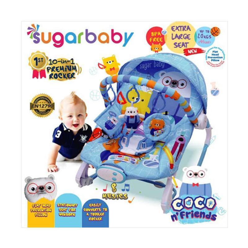 25605188d8fe Sugar Baby 10 in 1 Premium Bouncer Rocker Coco n Friends