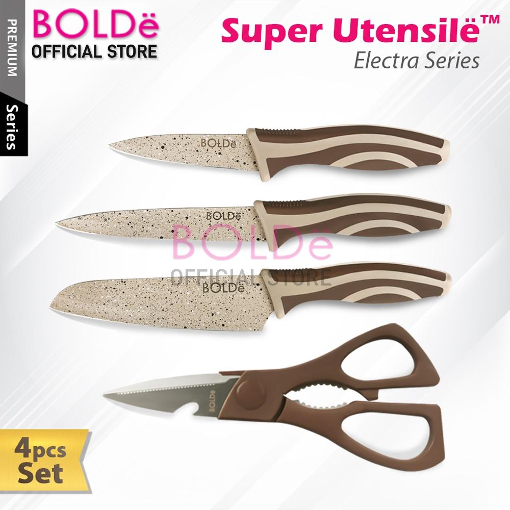 Bolde Super Utensil Electra Series 4 Pcs Set Pisau & Gunting By Bolde Official Store.