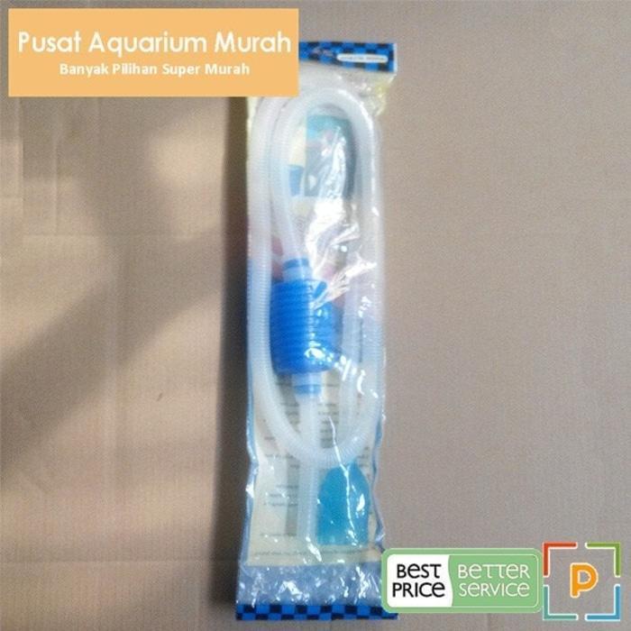 Terlaris Penyedot Air Aquarium / Siphon / Penguras Air / Cleaner Pump By Pusat Aquarium Murah.