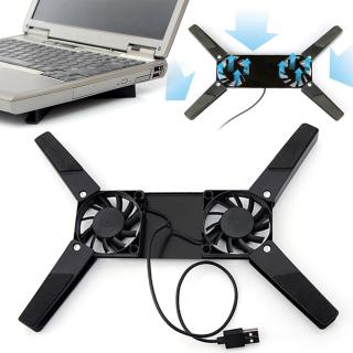 Giá đỡ làm mát USB 2 cánh quạt đế làm mát có thể điều chỉnh giá đỡ làm mát cho laptop 7 -15 inch có quạt đôi thumbnail