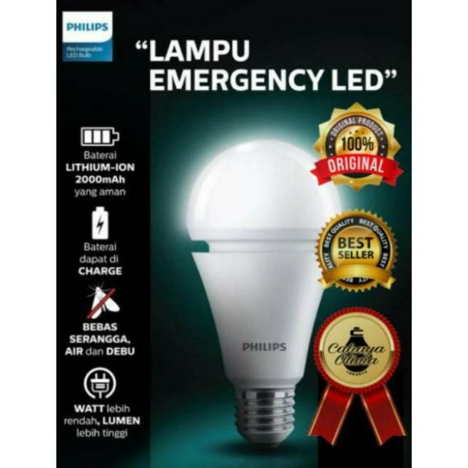 Lampu Led Philips Emergency 7 Watt