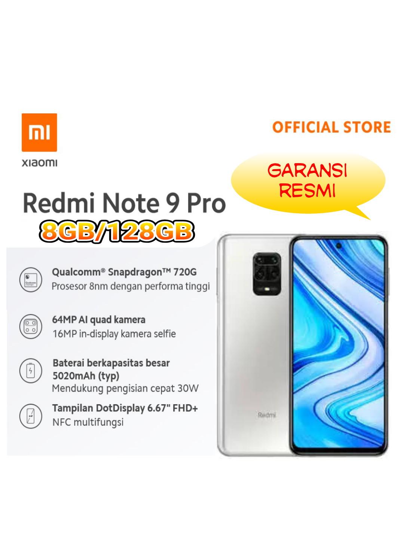 """Redmi Note 9 Pro (8GB+128GB) Snapdragon 720G 64MP Quad Kamera 5020mAh 6.67"""" FHD"""