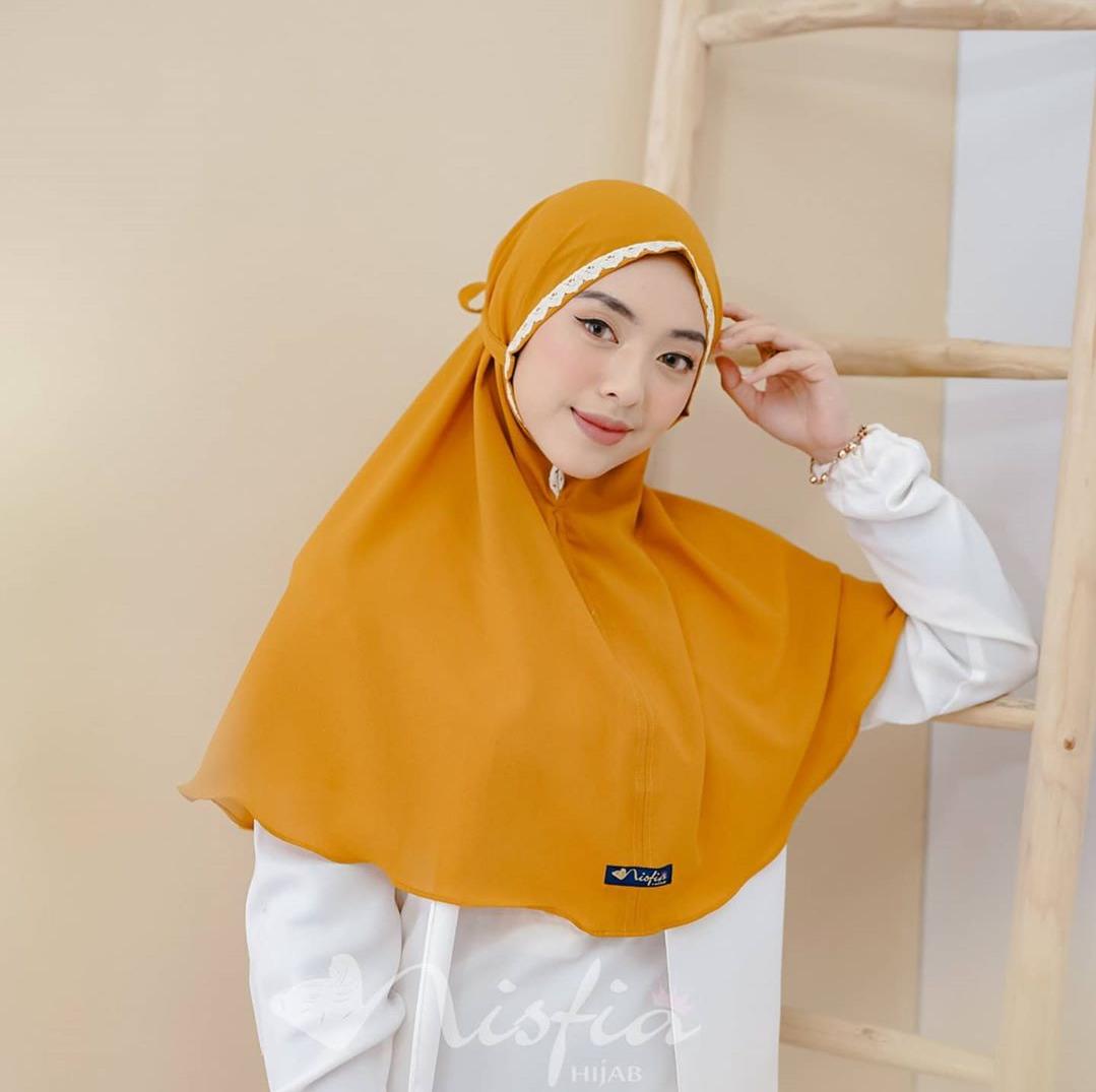 Kerudung Hijab Bergo Maryam Renda Jilbab Instan Diamon Crepe Tali Belakang