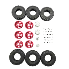 DIY Double Tire Metal Wheel KIT for Wpl B14 B24 Q62 Q63 1/16 Truck 4WD Rc Car Parts