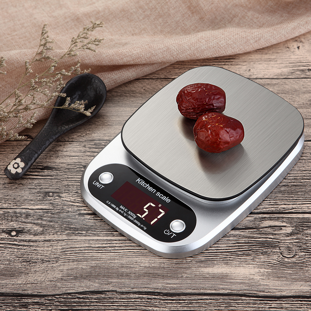 [2 Pieces Free Shipping] Electronic Scales For Home Kitchen Scales 3kg/0.1g 10kg/1g Digital Electronic Kitchen Food Diet Postal Scale Weight Balance G Oz Ml Electronic Scale.