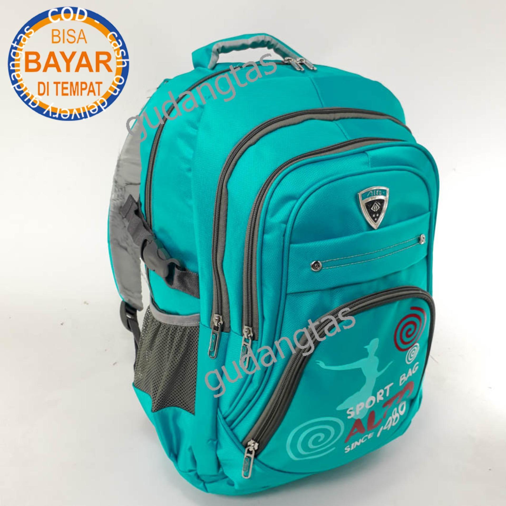 Alto Backpack Super Tas Sekolah 72773 Ransel Laptop BIRU + Raincover ec112a8ae2