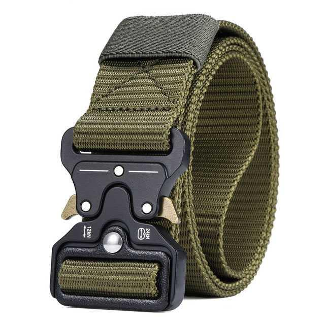Miluota Tali Ikat Pinggang Canvas Military Tactical 125cm Fast Unlocking Buckle Cepat Praktis Nyaman Kanvas Belt Men Fashion Accessories Gesper Sabuk Celana Ban Pinggang Outdoor Activities Army Pelengkap Busana Rapi S8205 By Jumpa Jack.