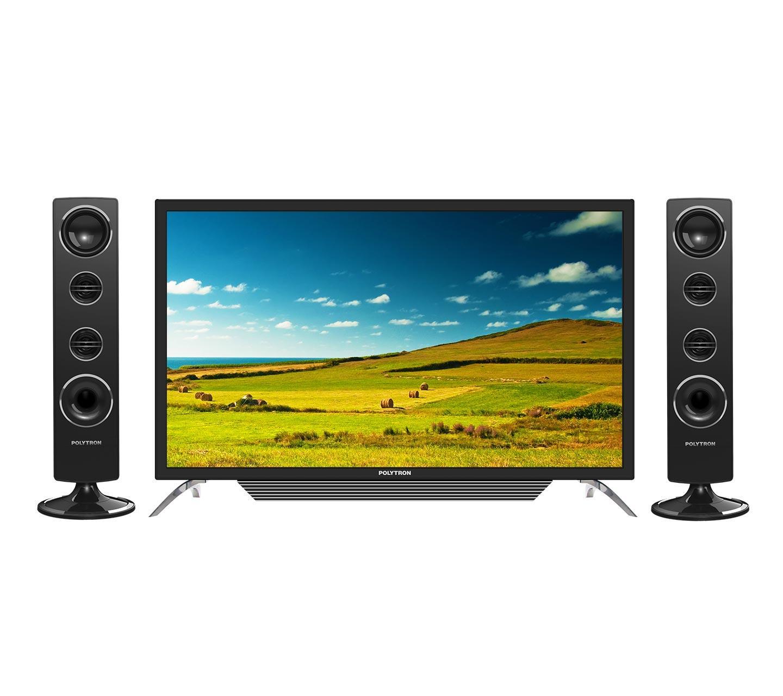 Polytron PLD32T1550 Tower CinemaX TV LED - Hitam [32 Inch] FREE PACK KAYU
