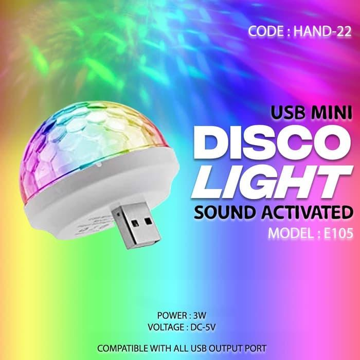 Lampu Disco Mini - Mini Usb Disco Light Portable Home Party Light Dc 5v Compatible With Microphone Smule / Ws 858 By Technoholic.
