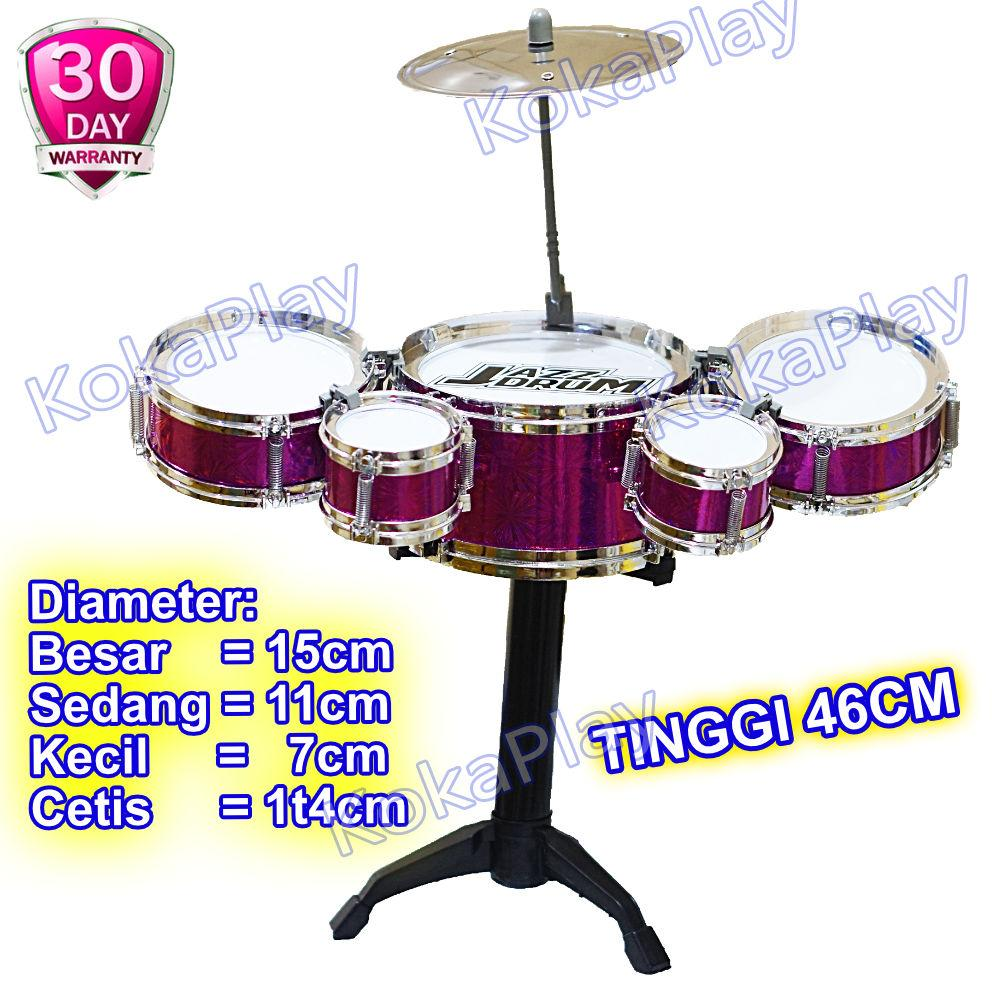 Kokaplay Jazz Drum Kit Set 6 In 1 Mainan Edukasi Musikal Drum Set Anak Mini Band Music Toy Mainan Anak Laki Laki Mainan Anak Perempuan By Kokaplay.