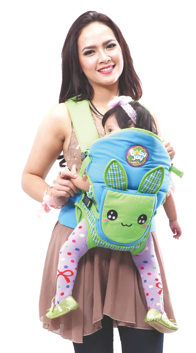Baby Joy Gendongan Ransel Carrier Bayi Depan 4 Bulan 2 in 1 Murah Bunny Series -