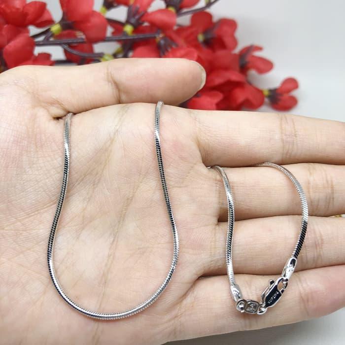 Rantai Kalung Panjang Xuping Asli 60 cm Lapis Emas Putih - BC018 (KenzieAzzam Shop)