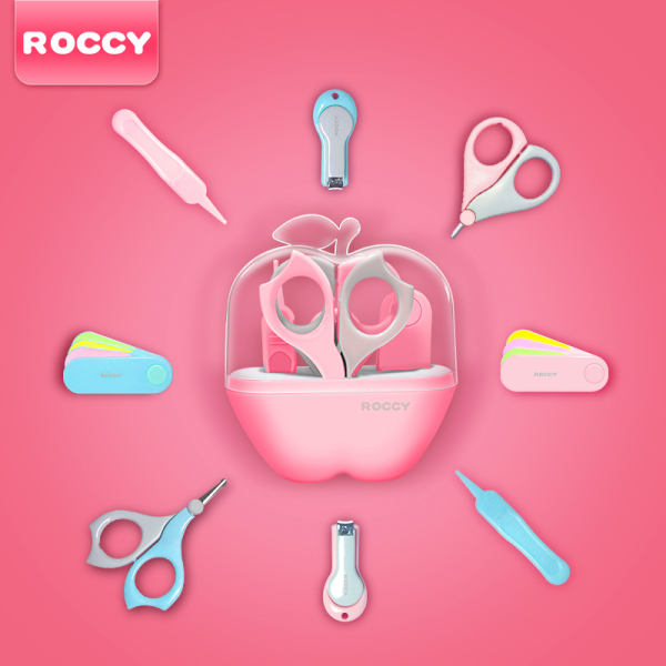 ROCCY Infant Nail Scissor Set Newborns Dedicated Anti-with Meat CHILDRENS Nail Clippers Baby Scissors Nail Clippers