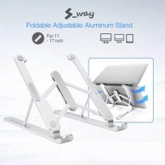 Giá Đỡ Máy Tính Xách Tay S-way 11-17 Inch, Khung Làm Mát Máy Tính Chống Trượt Chống Trượt Bằng Hợp Kim Nhôm Cho Macbook Air Pro Lapdesk