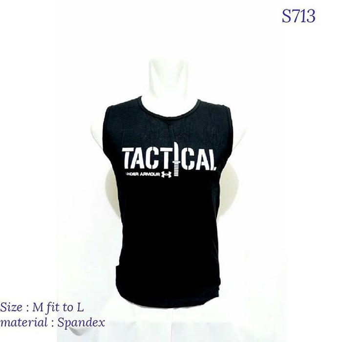 Terlaris Singlet Gym Tactical Underarmour Training Fitness Army - Dczbmqyc By Zanna Collections.