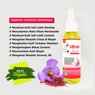 Healthy Face Mist Saffron Spray 100ml Face Mist Safron Original thumbnail