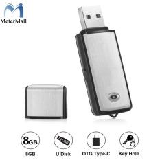 Máy Thu Âm Ổ USB Flash 128Kbps Kỹ Thuật Số Ghi Âm Giọng Nói 8GB Cho Windows Mac Android OTG Máy Ghi Âm Mini