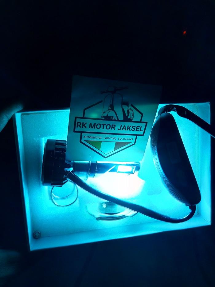 lampu motor led warna ice blue 6 sisi luminos original 36 watt tpe h4 dan h6 semua tipe motor