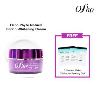 Osho - Phyto Natural Enrich Whitening Cream 45ml Free 3 Sc Peeling Gel thumbnail