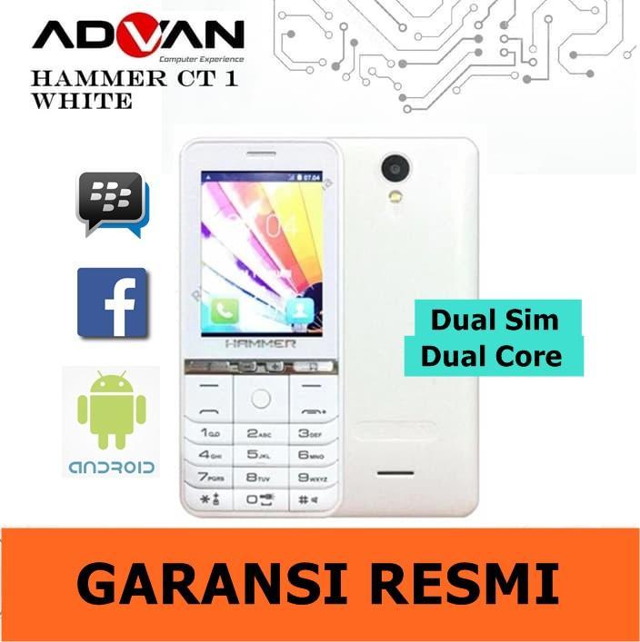 Advan Hammer CT1 Android Murah - Putih - Garansi Resmi