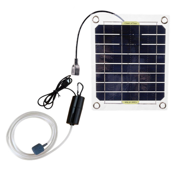 Solar Oxygen Pump Portable Solar Powered Water Oxygen Pump Household Fish Aquarium Oxygenator Pool Air Oxygen Pump Aerator