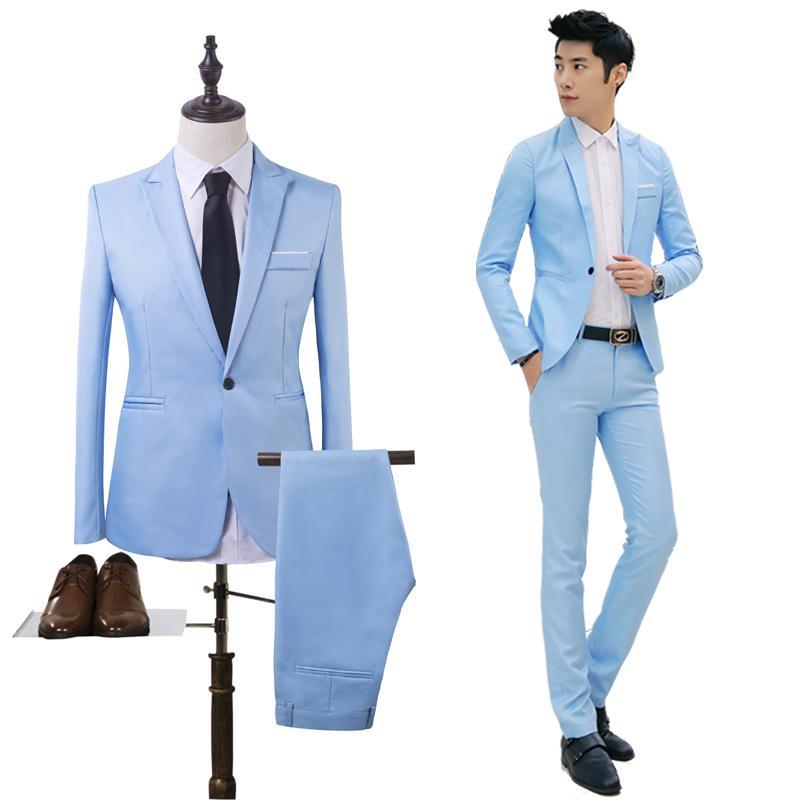 Two Pieces Suit Set Men Wedding Suits Groom Tuxedos Suit 3f8da6cd6df7