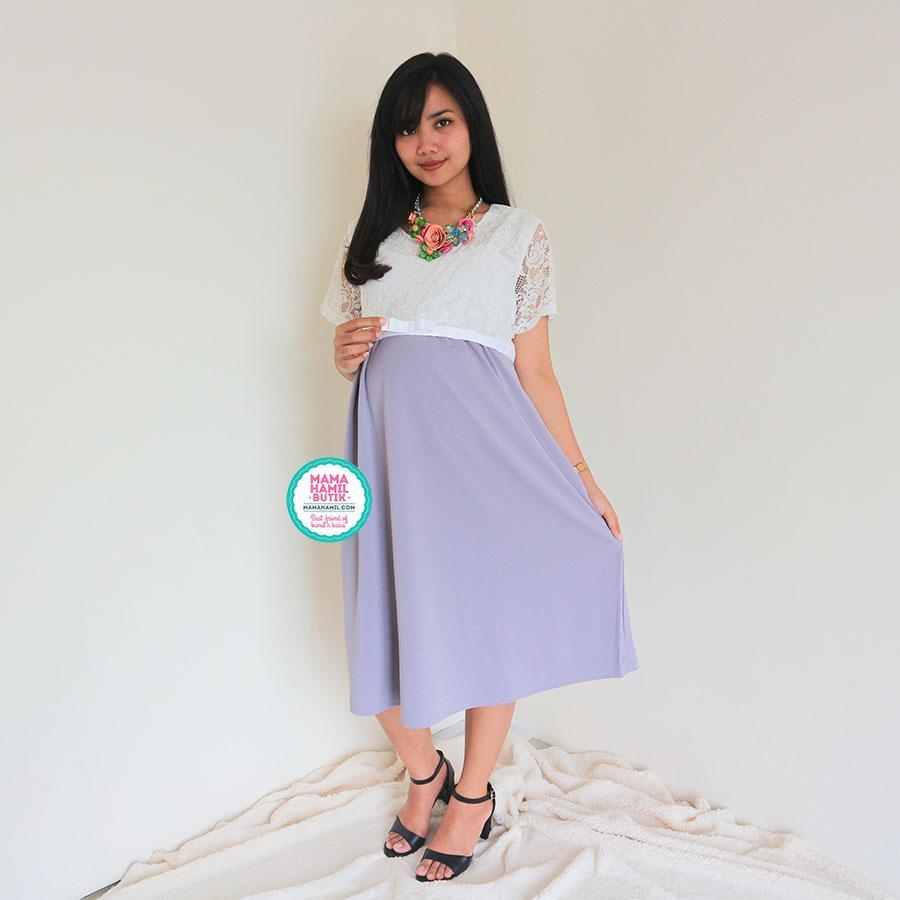 Mommy Maternity Boutique Dress Ibu Hamil Pesta Brokat Zaina Dress Terbaru Kekinian Cantik Elegan Murah Casual Pesta Best Seller Dro 795a